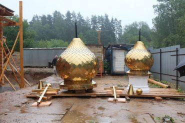 Освящение куполов и крестов на Храм Преподобного благоверного князя Олега Брянского