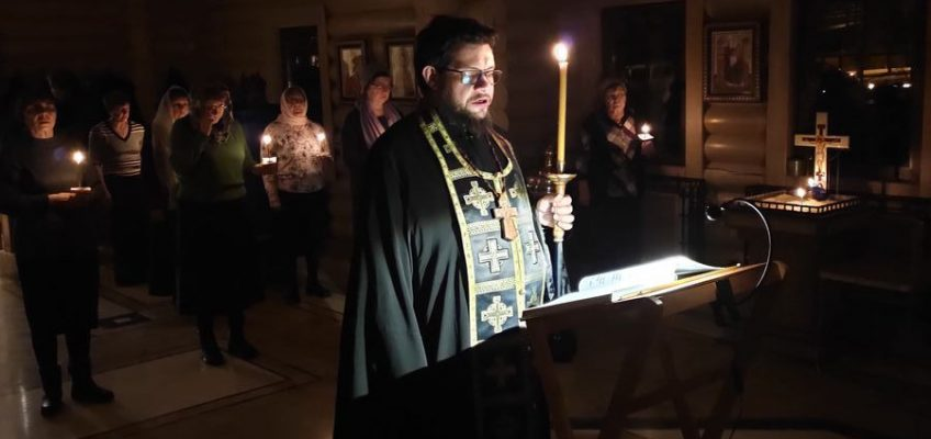 Чтение Великого канона преподобного Андрея Критского